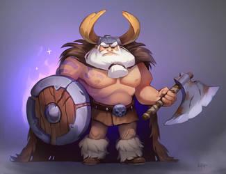 Viking the manly man by Rikku-nyan