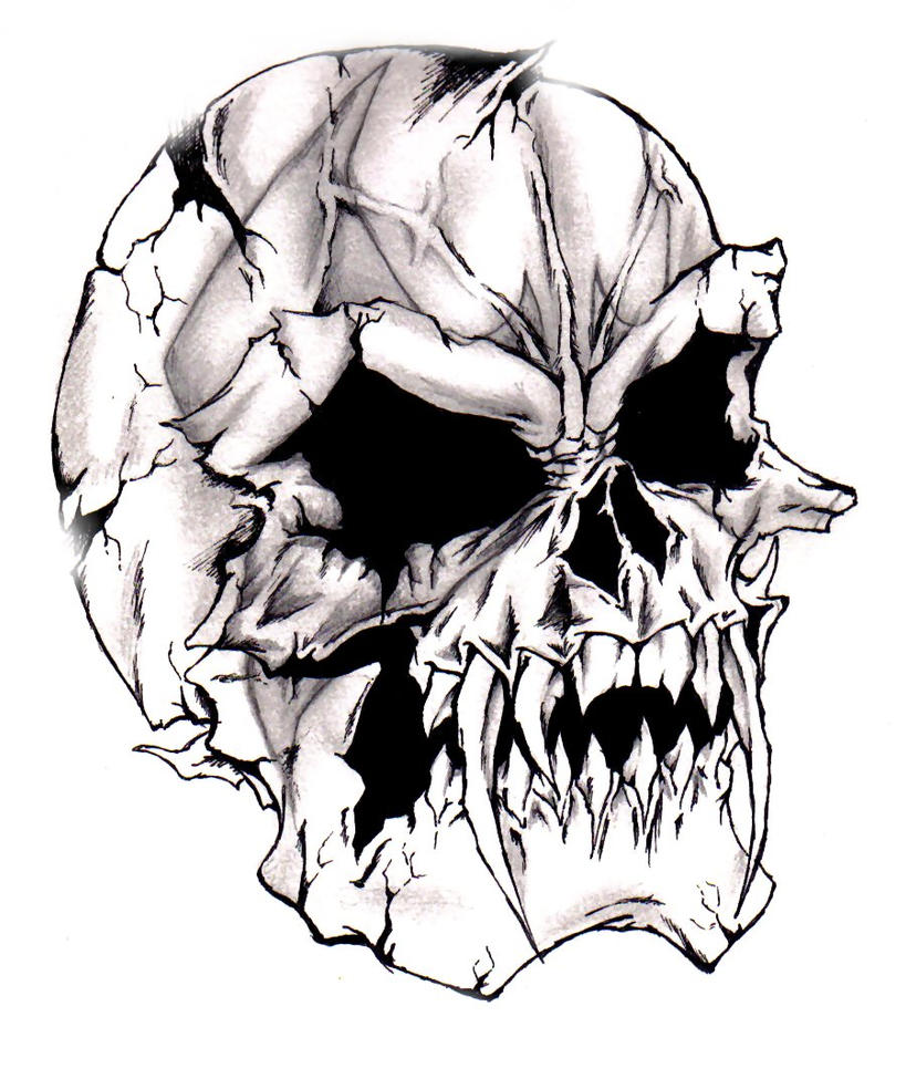 devilish evil skull by darkeners on deviantart