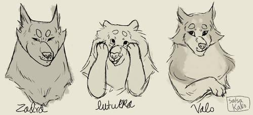 dog doodles by salsawa