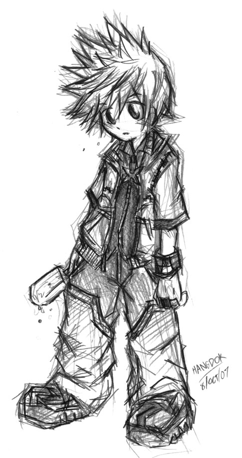 KHII:Roxas - Sketch Ver. by hangdok