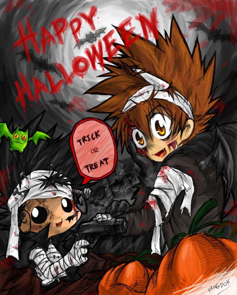 "Halloween Event : กิจกรรมที่ 1 ""ประกวดรูปภาพการ์ตูนฮาโลวีน"" Happy_Halloween_by_hangdok"