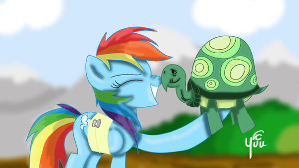 Dashie and Tank (Speedpaint in description) by Yuukon
