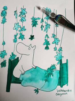 Inktober #14: Overgrown