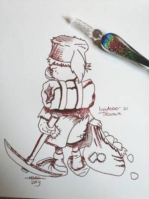 Inktober #21: Treasure by Yuukon