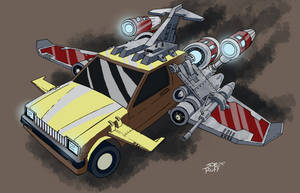 The Flying Car by JoeRuff