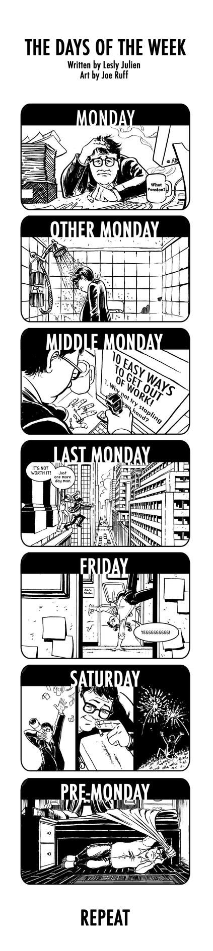 The Days of The Week by JoeRuff