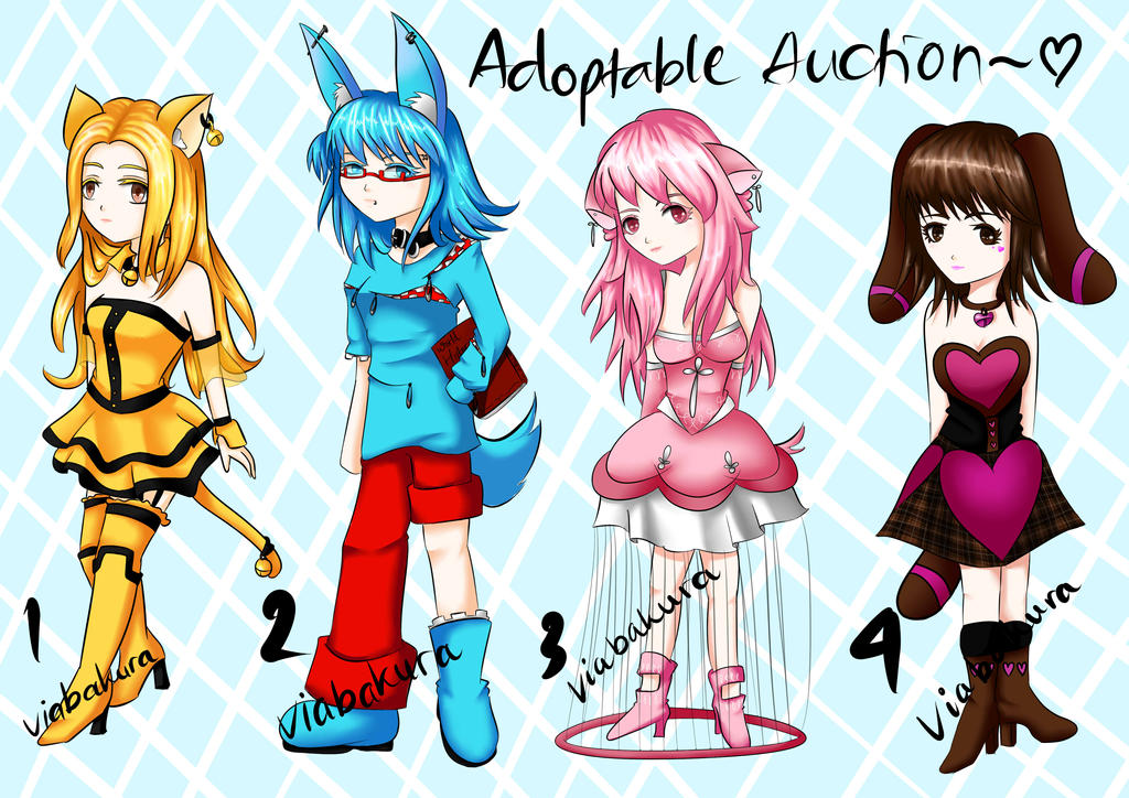 Adoptable Auction 2 [OPEN] by ViaBakura