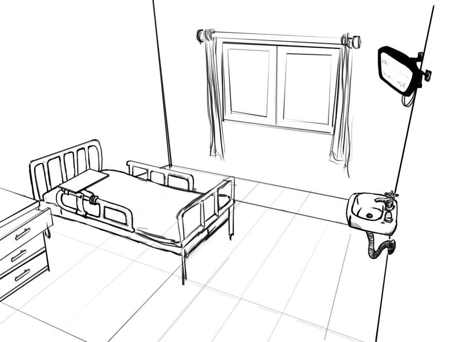 Hospital Room Sketch