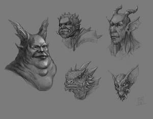 Monster portrait sketches