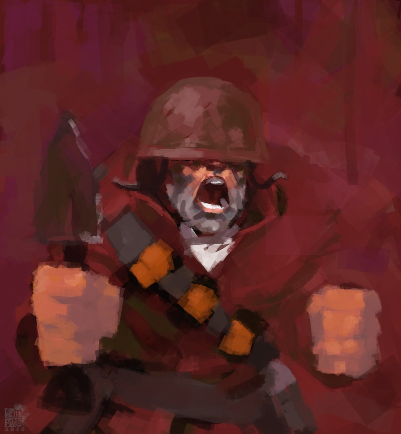 how to draw soldier tf2