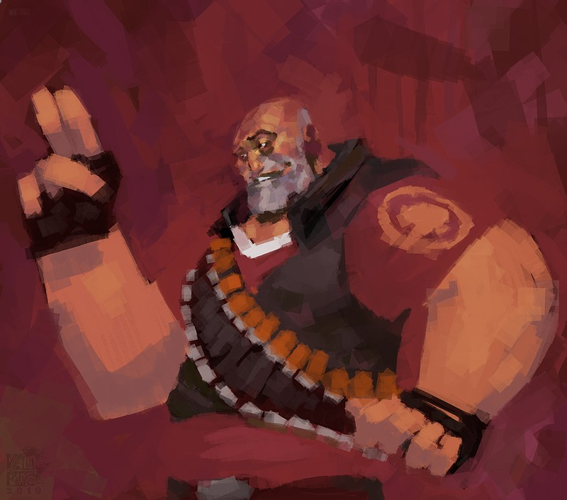 tf2: heavy by Vamp1r0