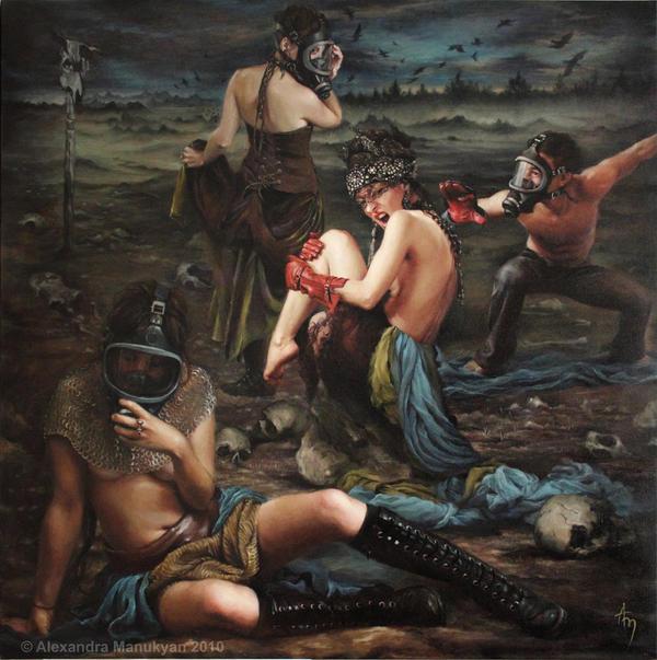 油画永恒的死亡 - 牧笛 - ☆【牧笛】世界顶级艺术图典 ☆