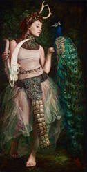 The-Clock-of-Quietus,-36x18 inches, oil-on-canvas by alexandramanukyan