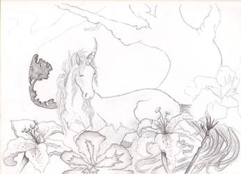 Myth amongst the flowers by Rufusshinra08