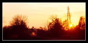 Traintrack Sunset