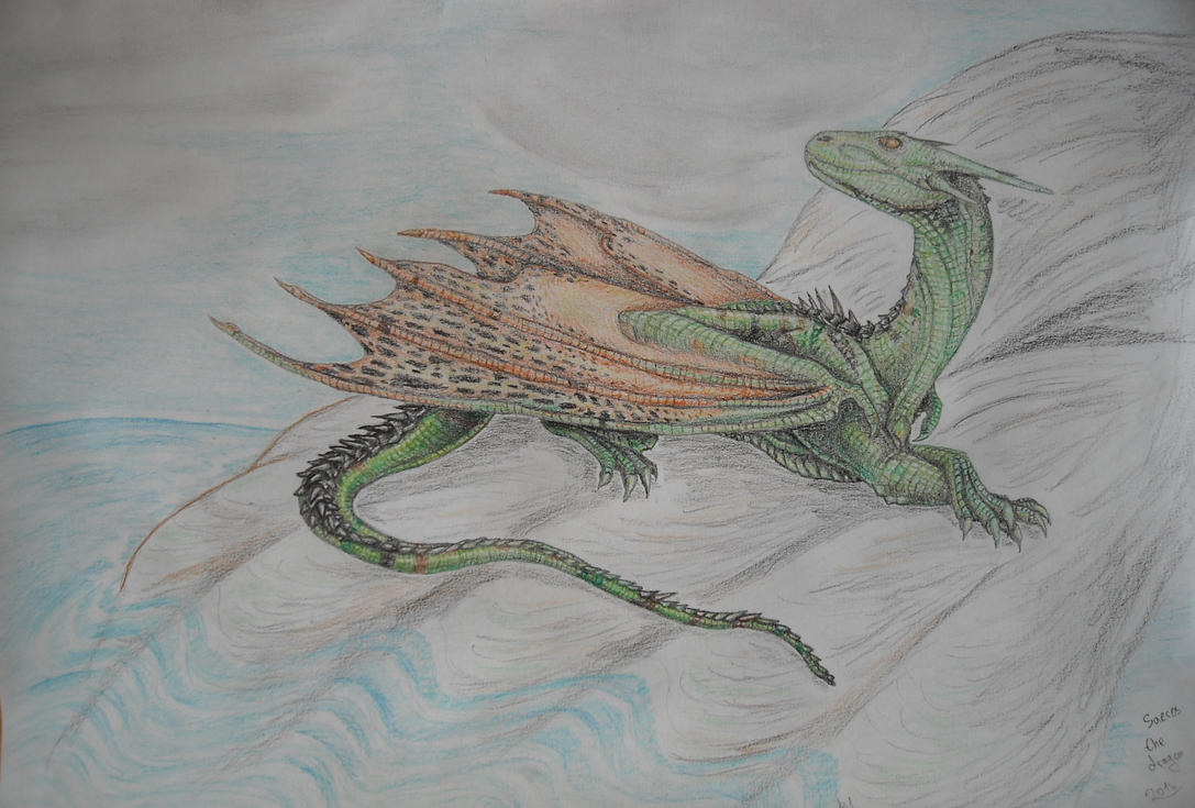 A dragon by the sea by Saeros2006