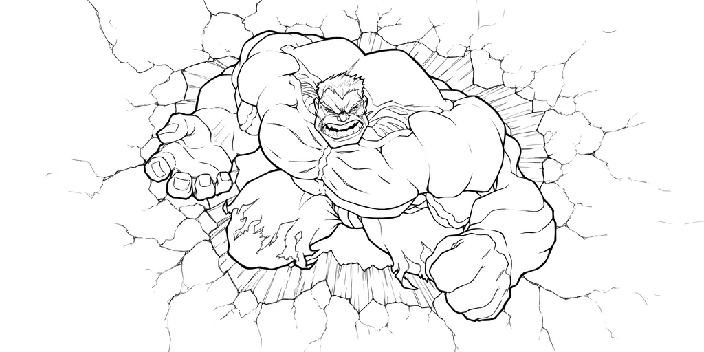 Incredible Hulk custom commission  Digital lines by