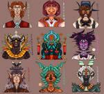 Symetrique portrait confiserie character