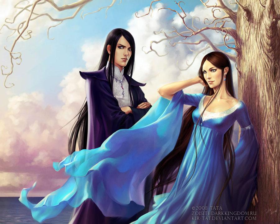 Elenath and Aeariel by kir-tat