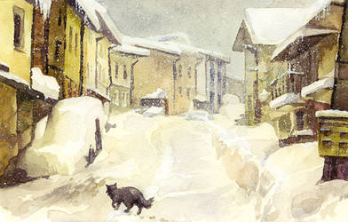 snow etude1 by kir-tat