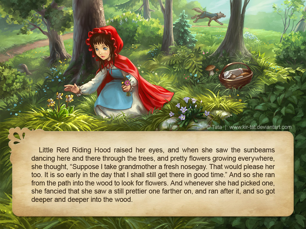 original little red riding hood story pdf