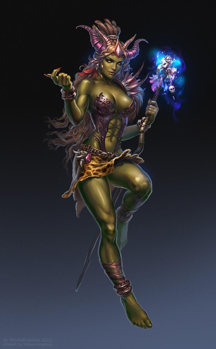 Orcs and girls erotic scenes