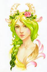 Green hair season by kir-tat