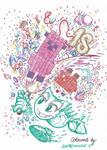 Happy Birthday DeviantArt! Line Art Challenge!