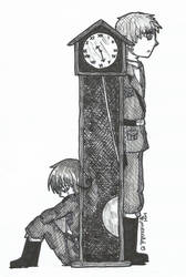 APH Inktober2018 - 14 - Clock by LoveEmerald