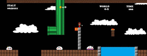 aph: SuperItalia Bros Underground Level (pixelart) by LoveEmerald