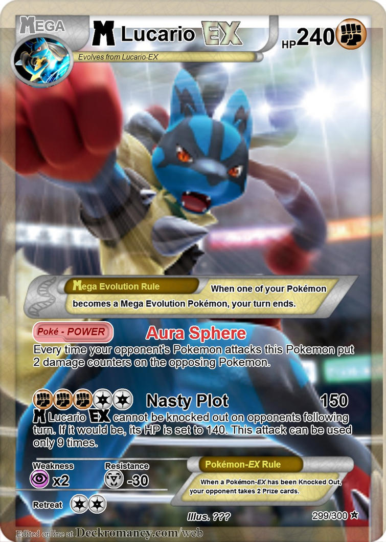 Pokemon Mega Lucario Ex Card Images   Pokemon Images