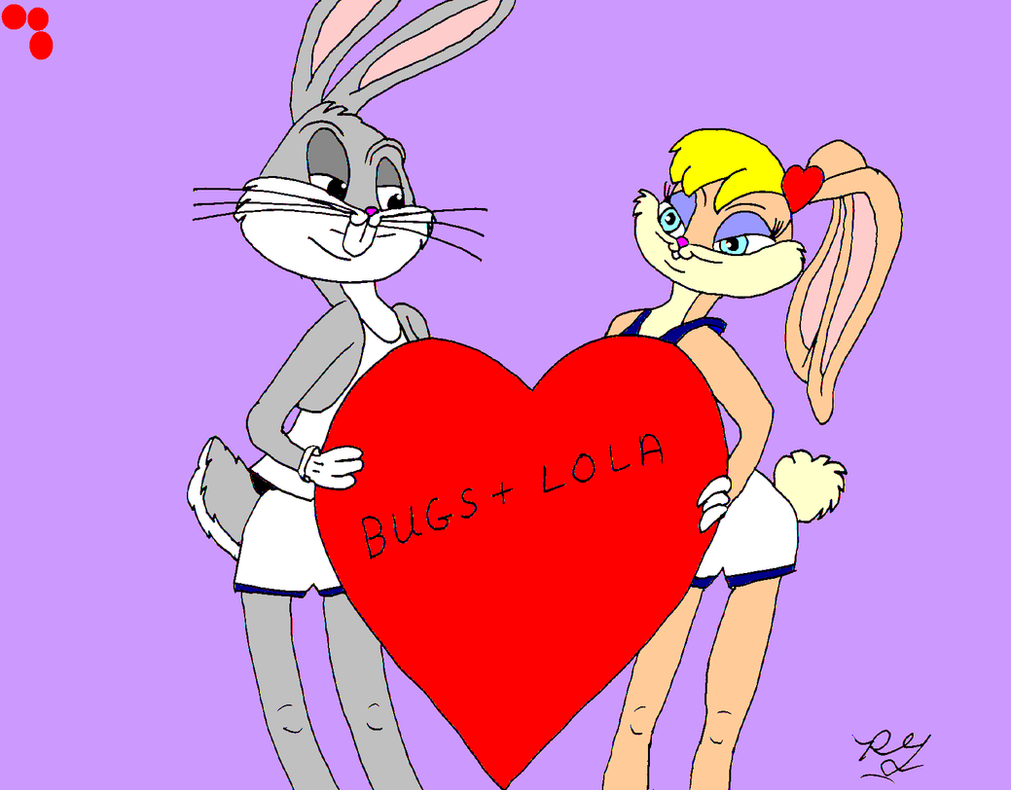 Lola  And Bugs Bunny  Valentine's Day by guibor