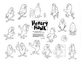 Henry Hawk Model Sheet by guibor