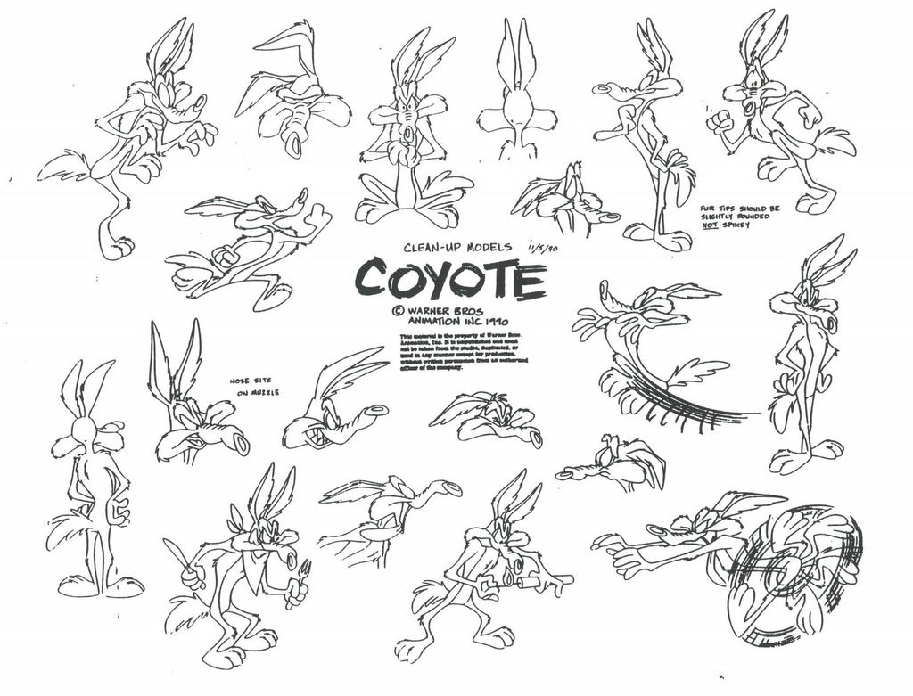 Wile E Coyote Model Sheet Ver 3 by guibor on DeviantArt