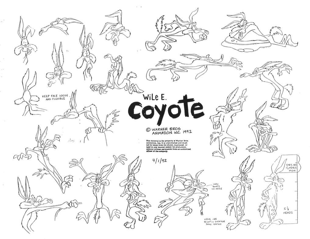 Clip Art Wile E Coyote Coloring Pages Breadedcat Free Printable