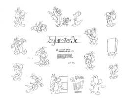 Sylvester Jr. Model Sheet by guibor