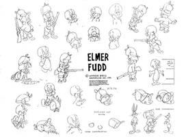 Elmer Fudd Model Sheet V2 by guibor