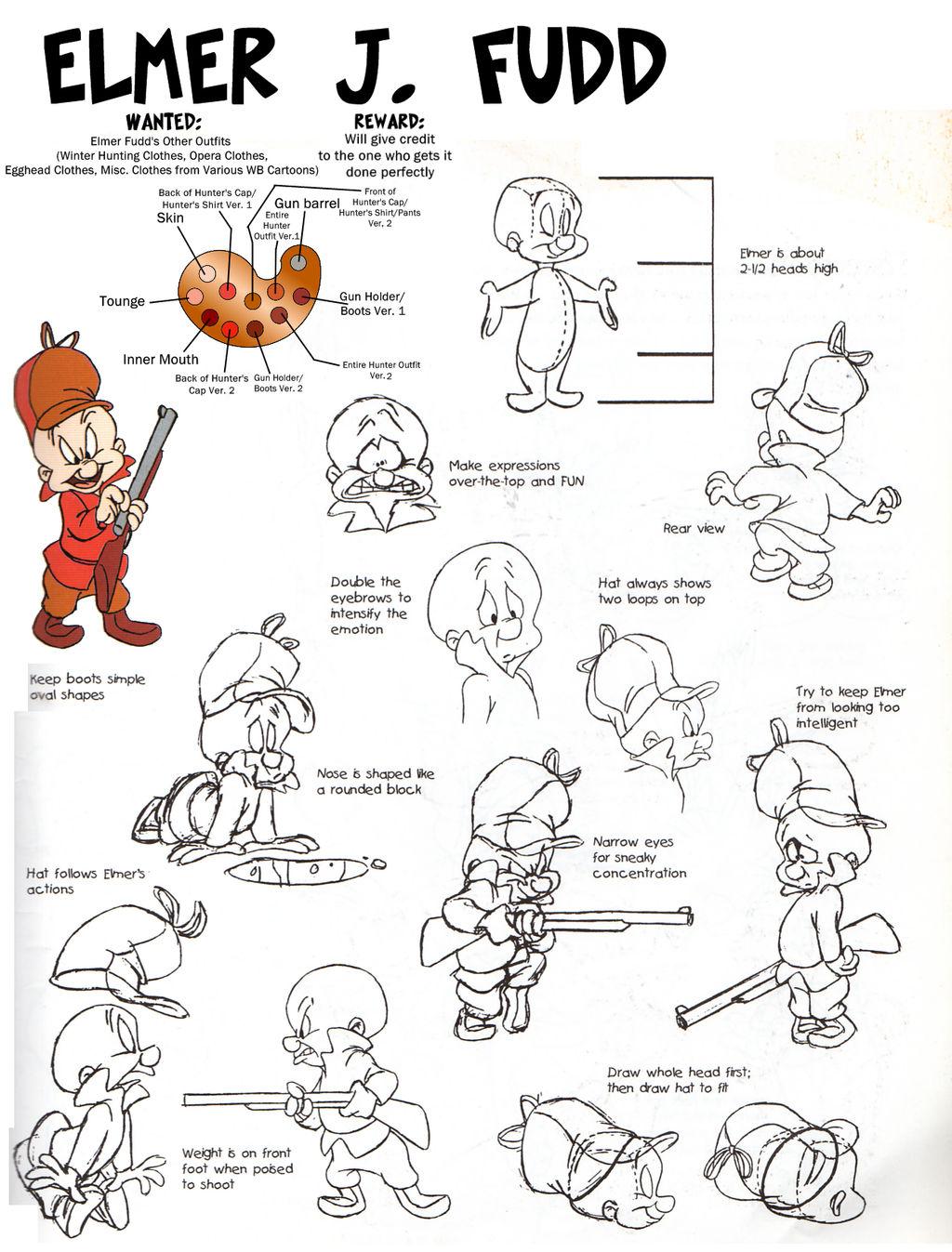 Elmer J Fudd Model Sheet by guibor