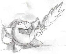 Metaknight sketch by TheRealRNG