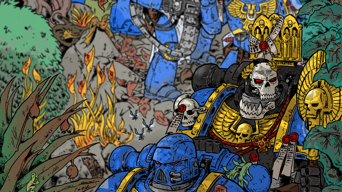 wh40k: ultramarines - wallpaperkrzysztofmalecki on deviantart