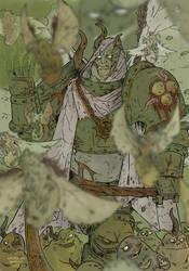 WH40K:Mortarion Daemon Prince of Nurgle by KrzysztofMalecki