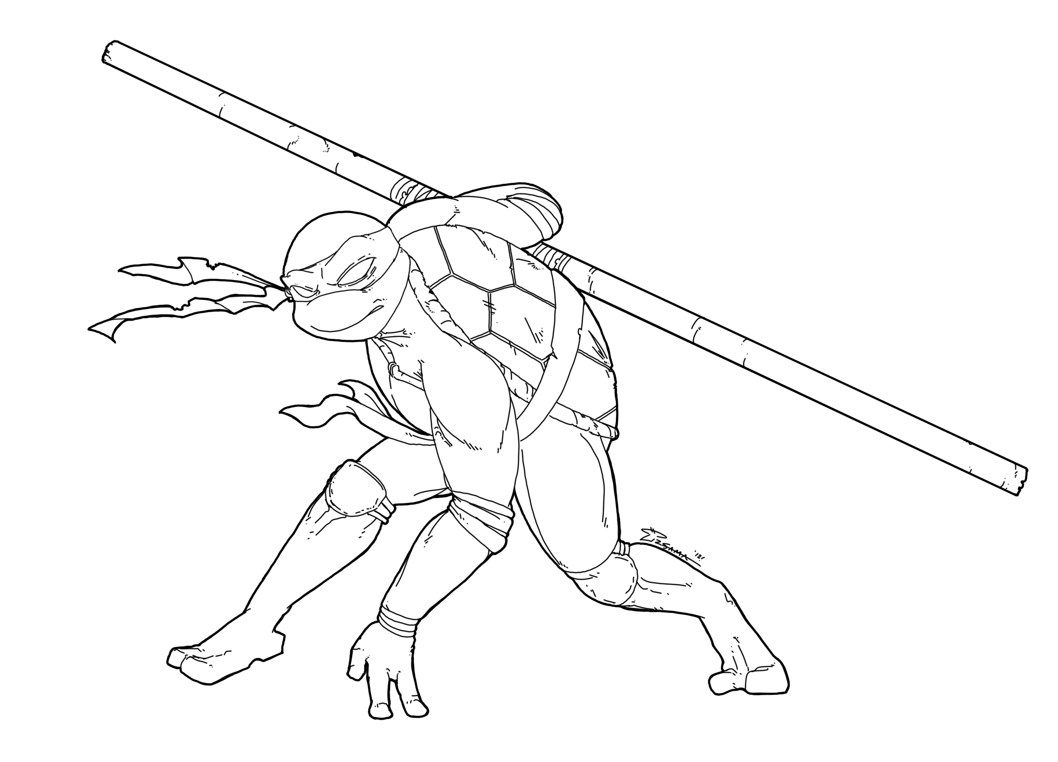Not really daily sketch tmnt donatello by skypiratedash for Tmnt coloring page