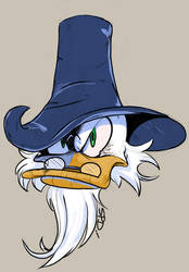 Scrooge McDuck as Captain Abhab by SkyPirateDash