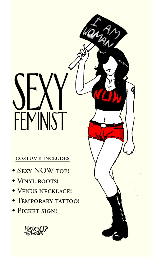Sexy feminist costume by GeneticMishap