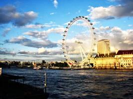 london eye sunset by tnemgarf