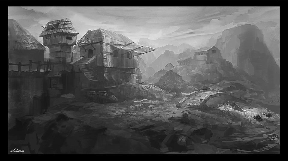 Concept-Ancient Village by Ashramart