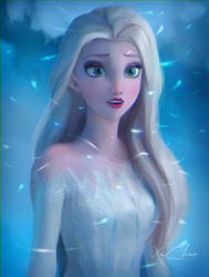 Speed Painting of Elsa from Frozen