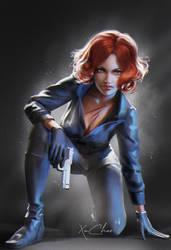 Digital Painting of Black Widow (Natasha Romanoff)