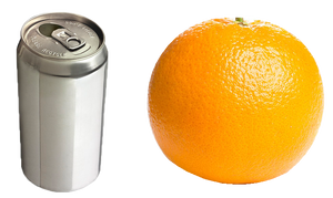 Orange and can PNG