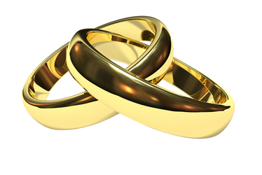 Golden Couple Ring PNG